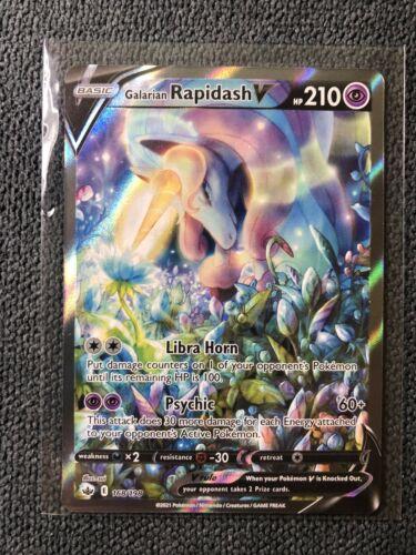 Galarian Rapidash V Full Alternate Art - 168/198 Pokemon TCG Chilling Reign NM 1