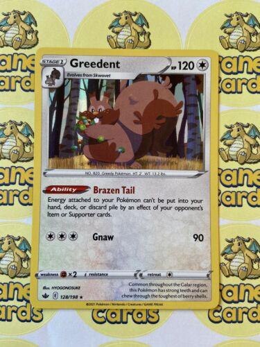 Greedent Holo Rare 128/198 SWSH Chilling Reign Mint Pokemon Card