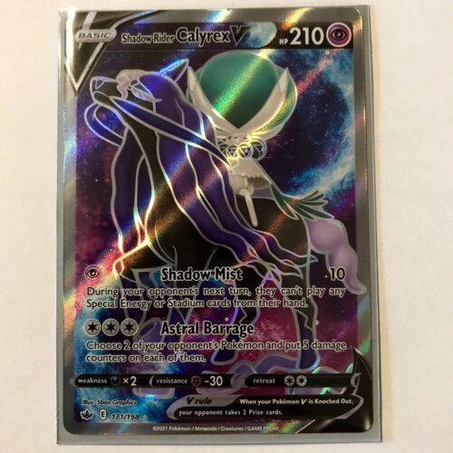 Shadow Rider Calyrex V Full Art 171/198 NM Chilling Reign Pokemon