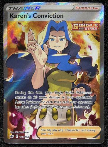 Pokémon TCG KAREN'S CONVICTION 193/198 NM/MT CHILLING REIGN