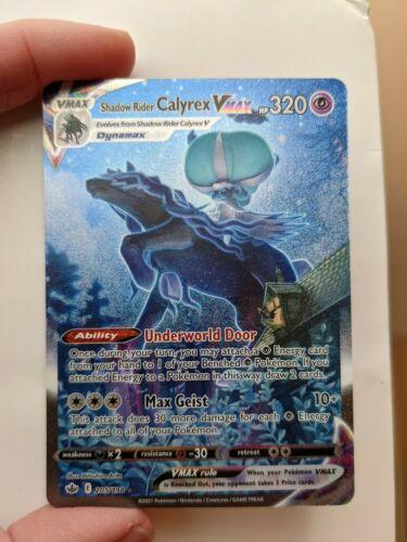 Pokemon Chilling Reign Shadow Rider Calyrex Vmax 205/198 Alternative Art