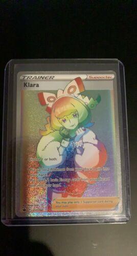 2021 Pokemon Chilling Reign Full Art Klara Secret Rare. 217/198. Near Mint.