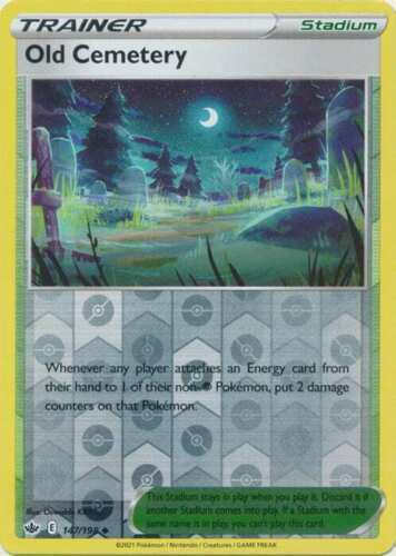 Pokemon -  Old Cemetery 147/198 - Reverse Holo - Chilling Reign - NM/M