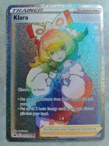 Klara Rainbow Rare Secret Rare 217/198 Chilling Reign Trainer Pokemon Full Art
