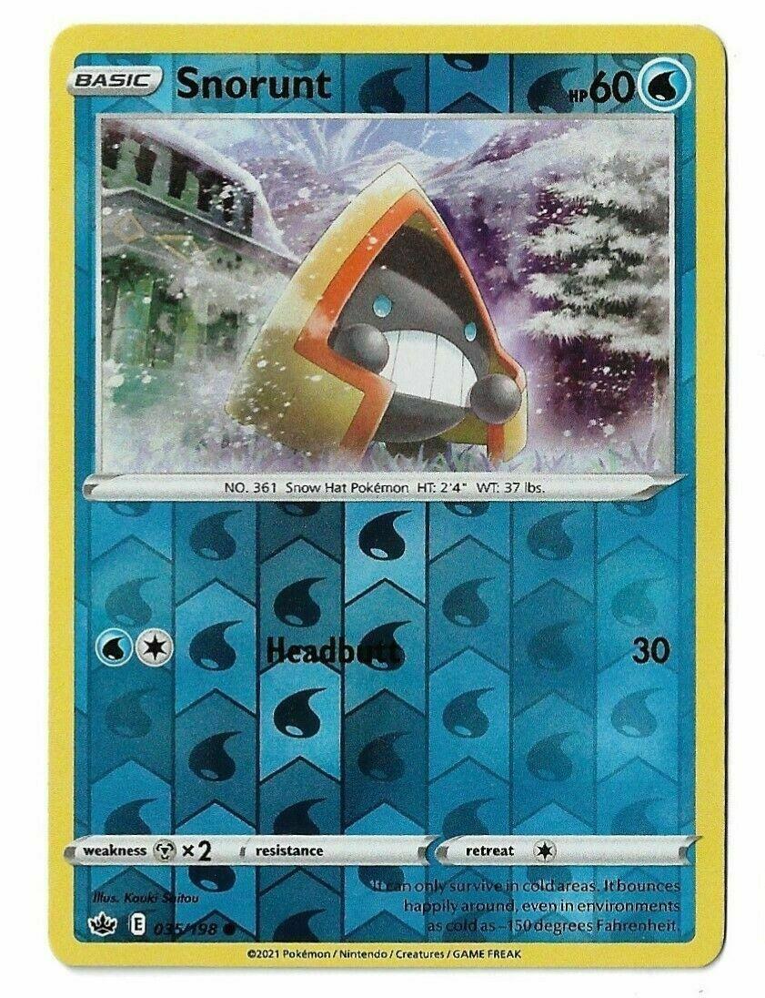 Pokemon - Snorunt 035/198 - Reverse Holo - Chilling Reign - NM/M