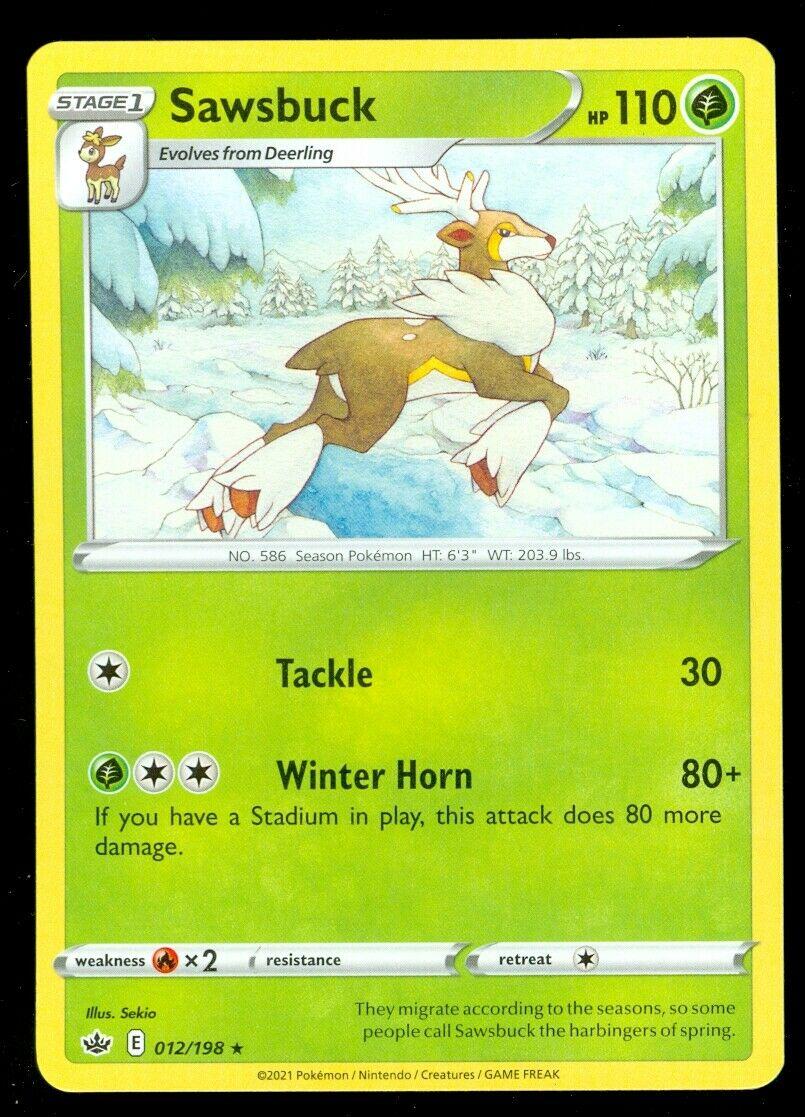 Pokemon SAWSBUCK 012/198 Chilling Reign - RARE - - MINT
