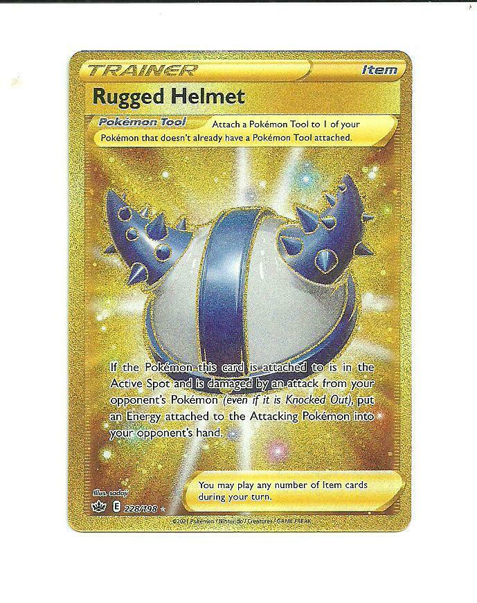 Pokemon : SWSH CHILLING REIGN Rugged Helmet 228/198 SECRET RARE