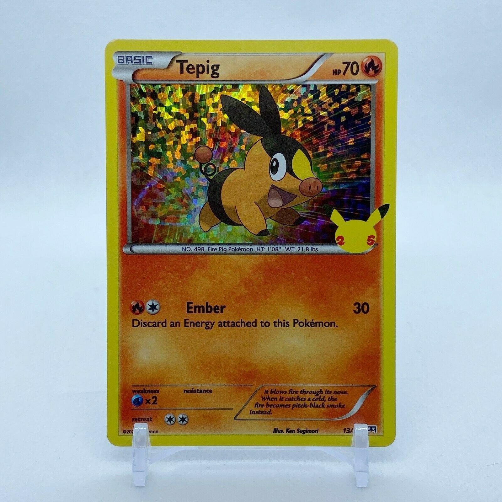 Tepig - 13/25 Mcdonald's Promo 25th Anniversary Holo Starter Pokemon - NM/MINT