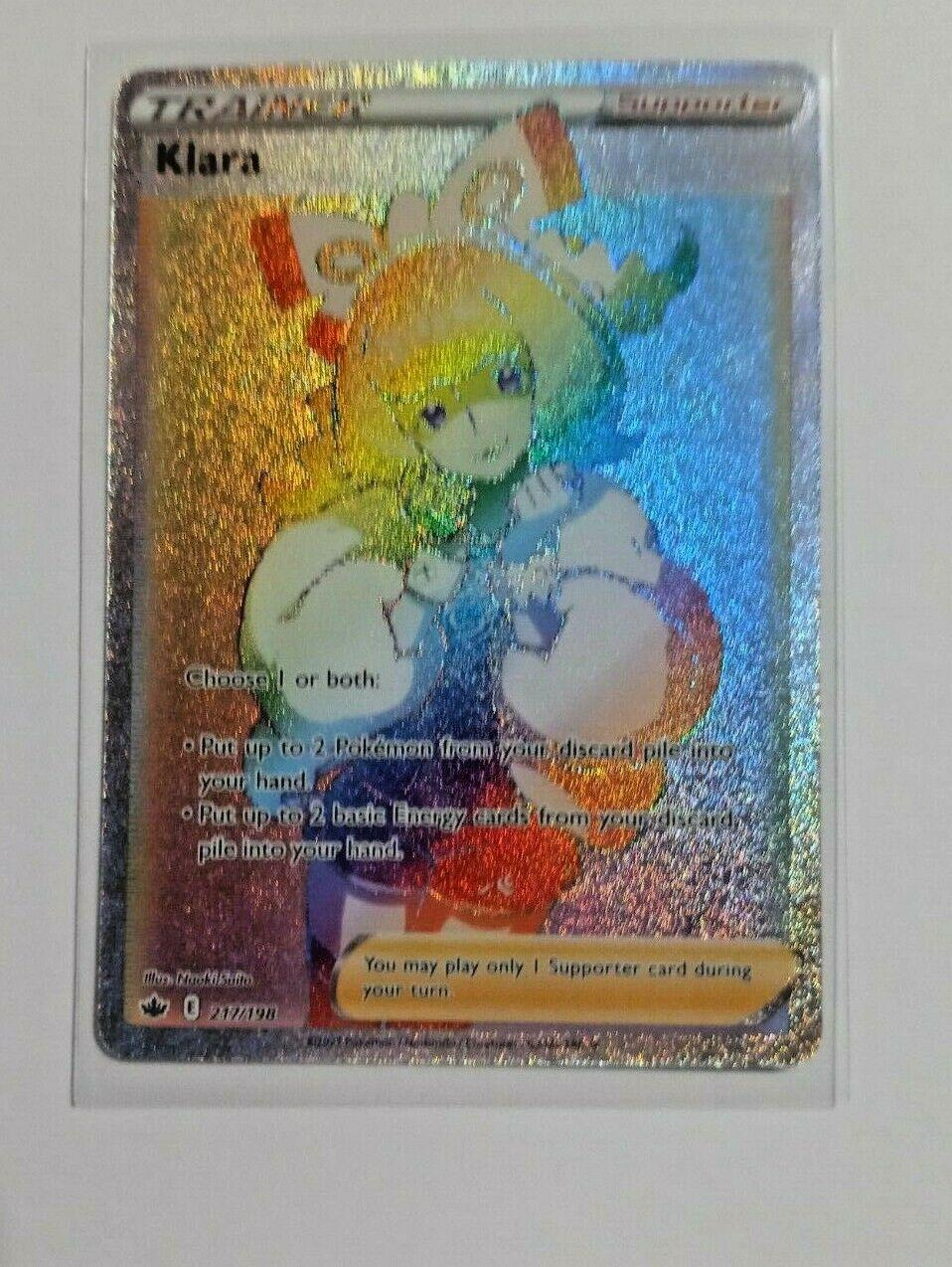 Pokemon Chilling Reign Trainer Klara 217/198 Secret Rare Full Art