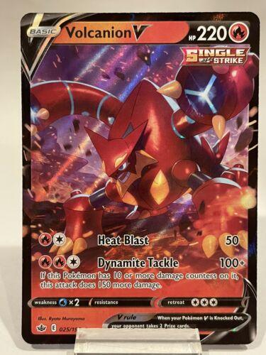 Volcanion V 025/198 Ultra Rare Pokemon Chilling Reign NM