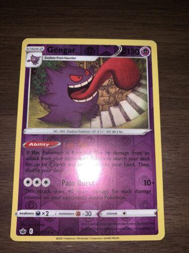 x1 Gengar - 057/198  - Reverse Holo Pokemon SS06 Chilling Reign M/NM