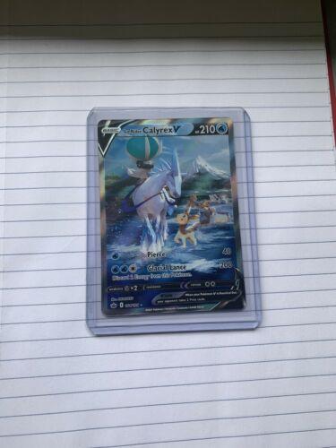 Ice Rider Calyrex V 164/198 pokemon Chilling Reign Full Art Alternate NM MINT