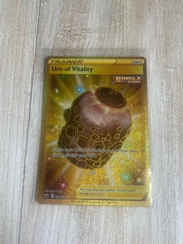 Pokemon Trainer Urn of Vitality 229/198 Gold Secret Rare Chilling Reign