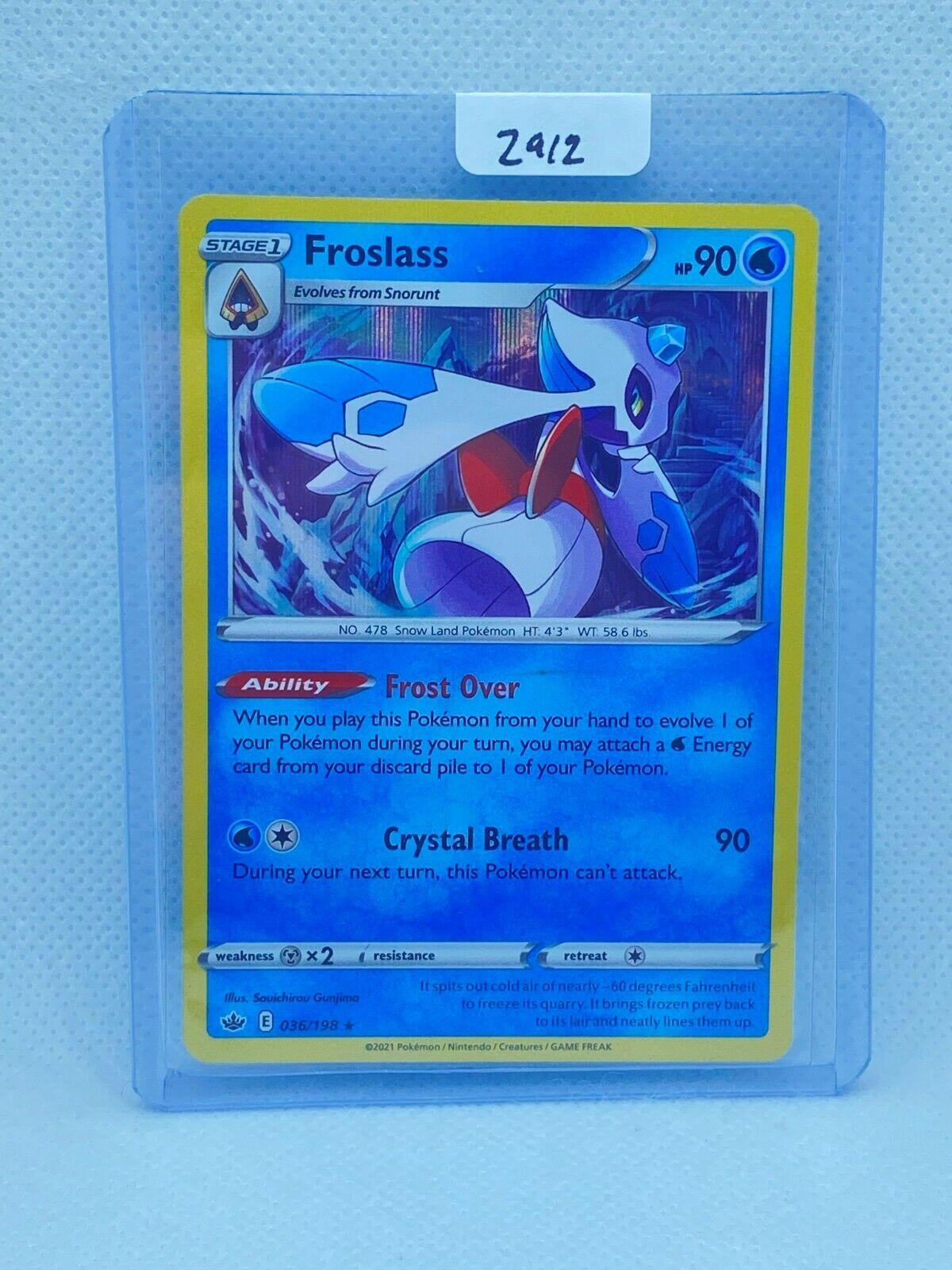 Pokémon TCG Froslass Holo 036/198 | Chilling Reign | Play/Grade Ready