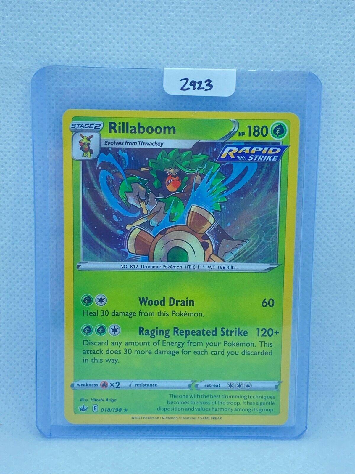Pokémon TCG Rillaboom Holo 018/198   Chilling Reign   Play/Grade Ready