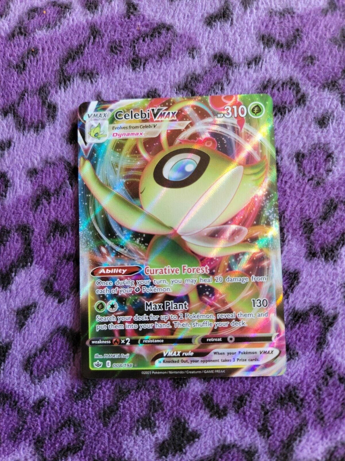 Celebi VMAX 008/198 Ultra Rare Chilling Reign Rare NM/M Pokemon Card
