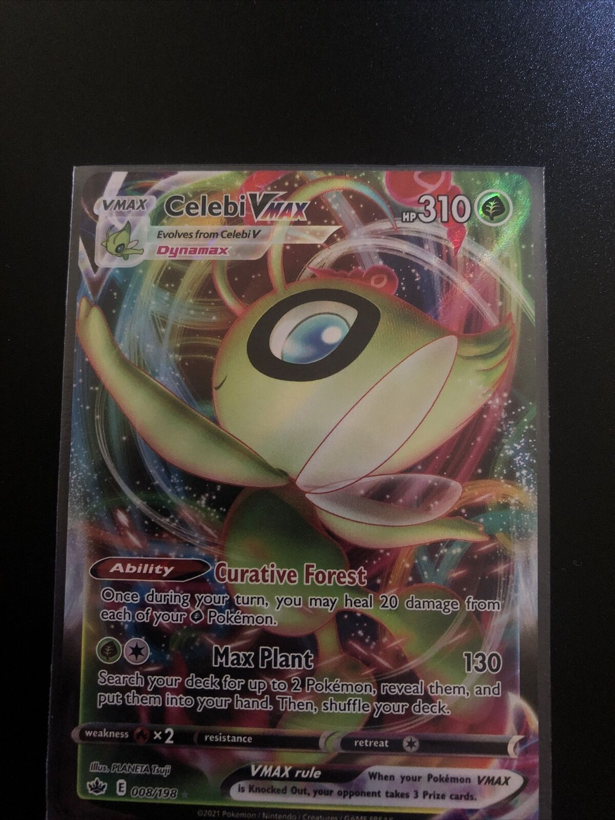POKEMON TCG CARD Celebi VMAX 008/198 Chilling Reign 2021 Ultra Rare Holo Foil NM