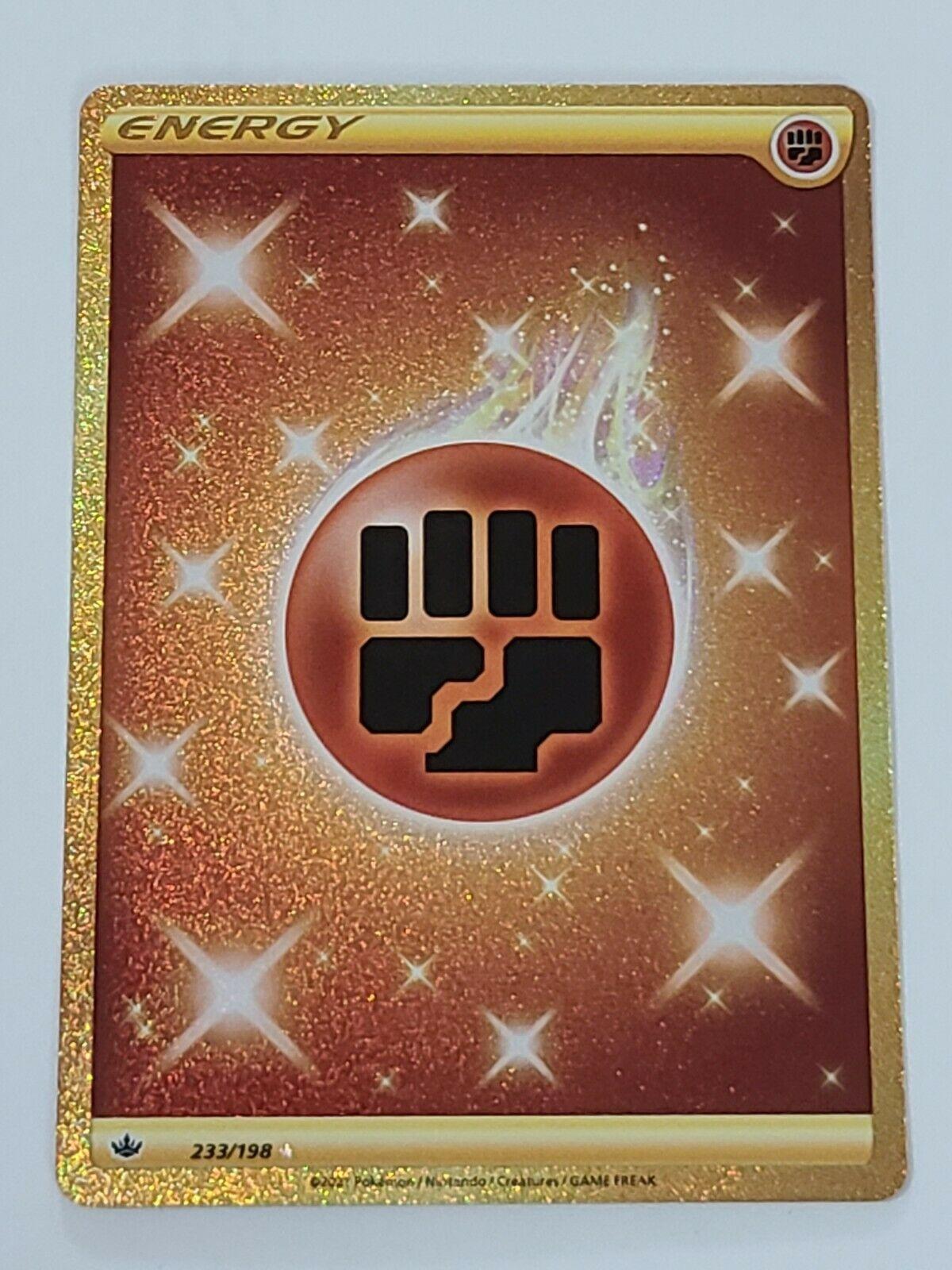 Fighting Energy 233/198 Gold Secert Rare Chilling Reign Pokemon Card