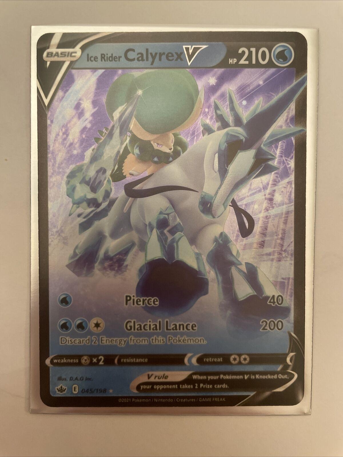 Pokemon TCG Ice Rider Calyrex V 045/198 Ultra Rare Chilling Reign NM/Mint!