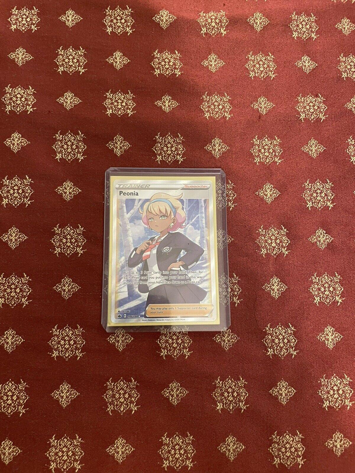 POKEMON CHILLING REIGN Peonia Full Art Trainer 196/198