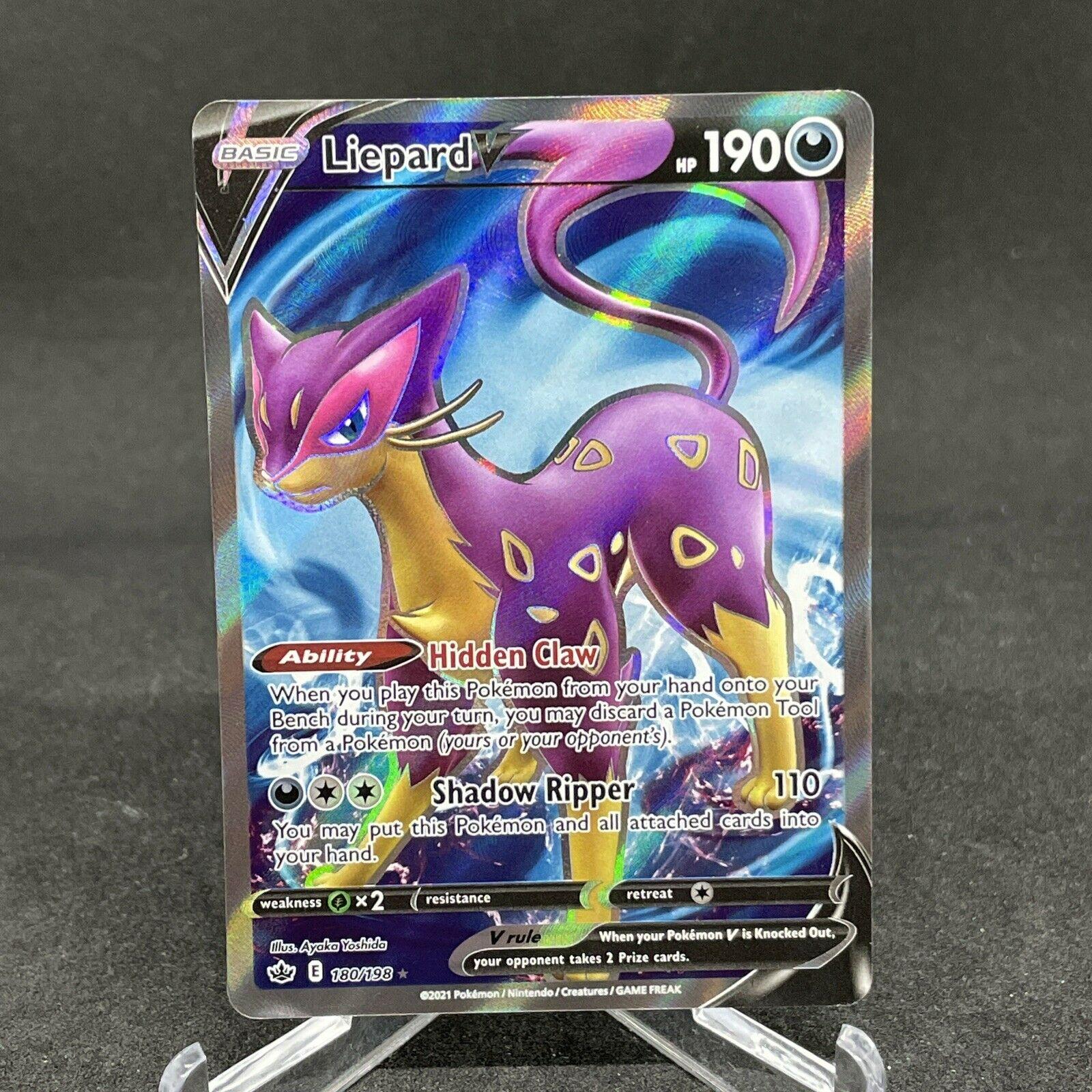 Liepard V 180/198 Full Art Ultra Rare Chilling Reign Pokemon Card