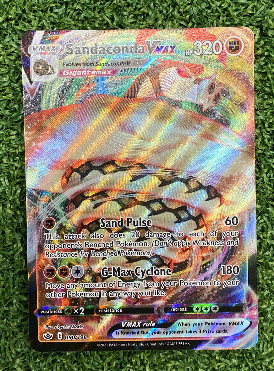 Sandaconda VMAX 090/198 Full Art NM/M Chilling Reign Pokemon Card
