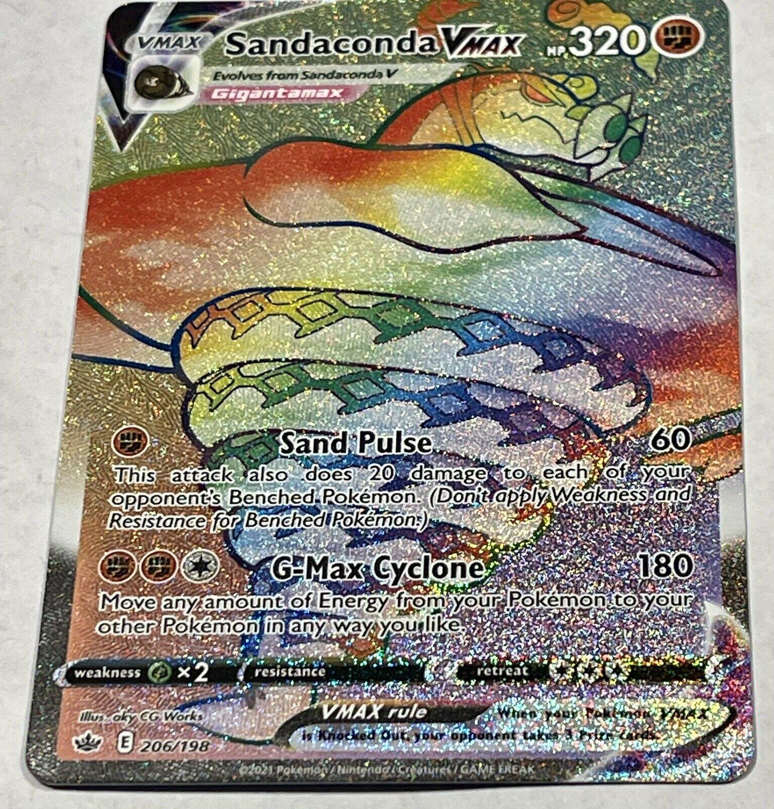 Pokemon Chilling Reign Sandaconda Vmax Rainbow Secret Rare 206/198