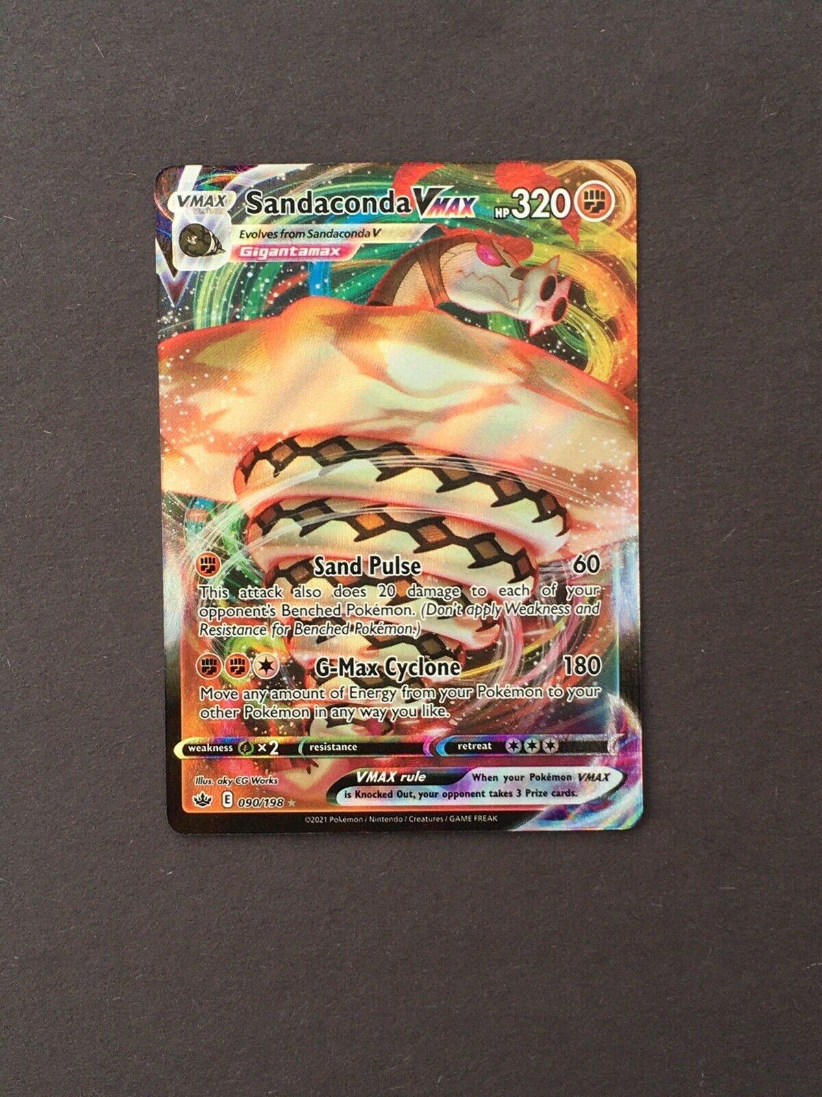 """Sandaconda VMAX"" - 090/198 - Full Art - Chilling Reign Pokemon Card NM"
