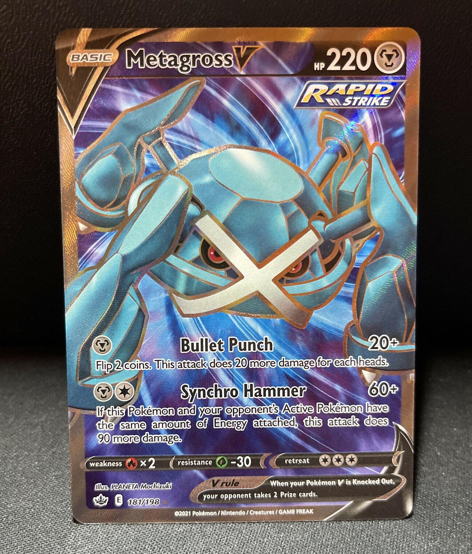 Metagross V 181/198 Chilling Reign Full Art Ultra Holo Rare Pokemon Card NM/M