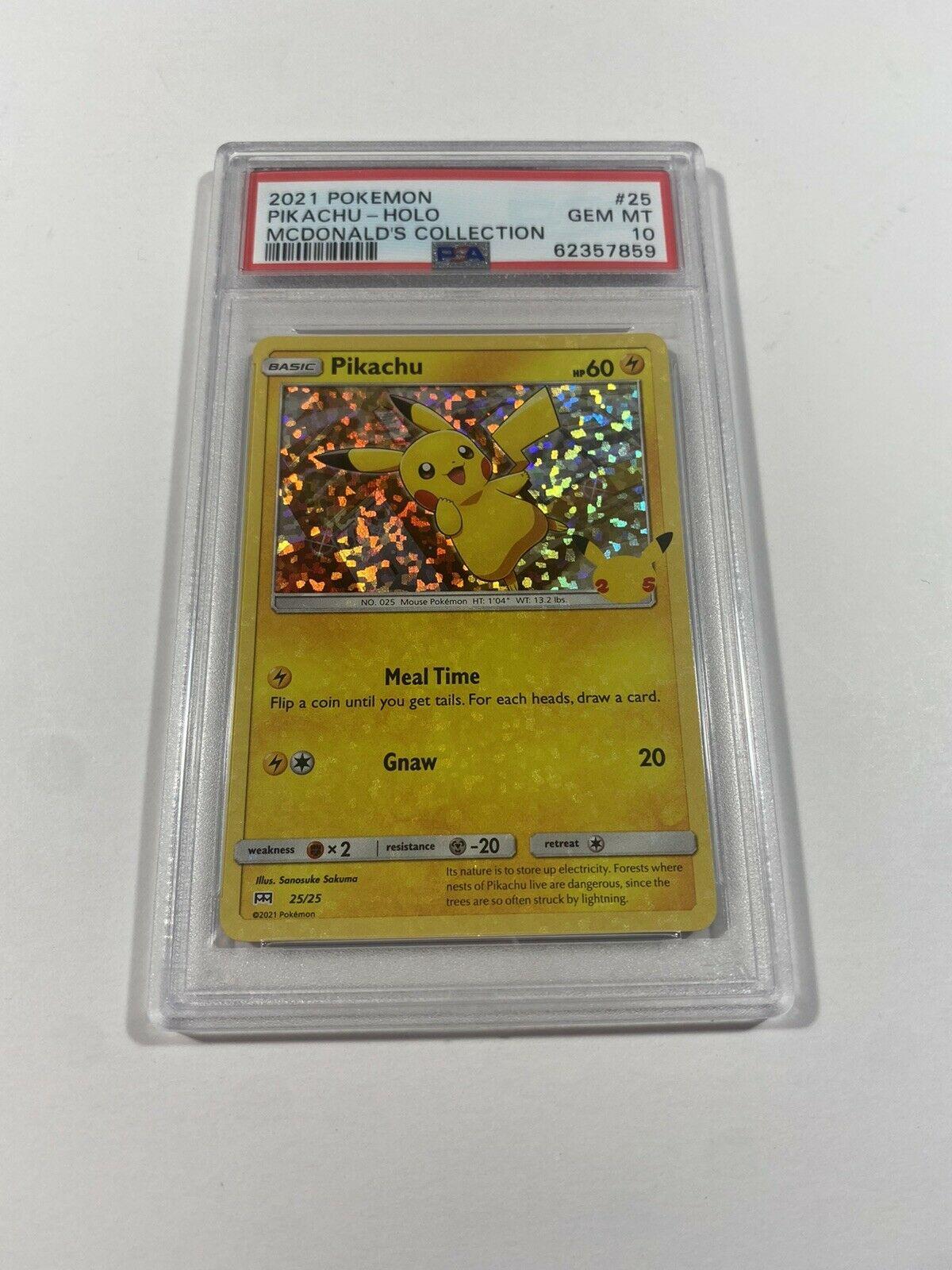 2021 Pokemon #25 Pikachu Holo McDonald's Collection PSA 10 GEM MINT