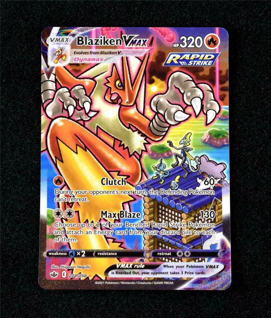 Pokemon Card Chilling Reign: Blaziken Vmax Alternate Full Art Secret 201/198 L1