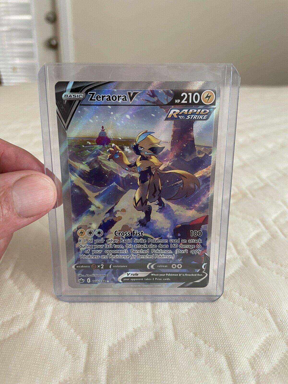 Pokemon TCG Chilling Reign Zeraora V(Alternate Full Art) Ultra Rare Mint 166/198
