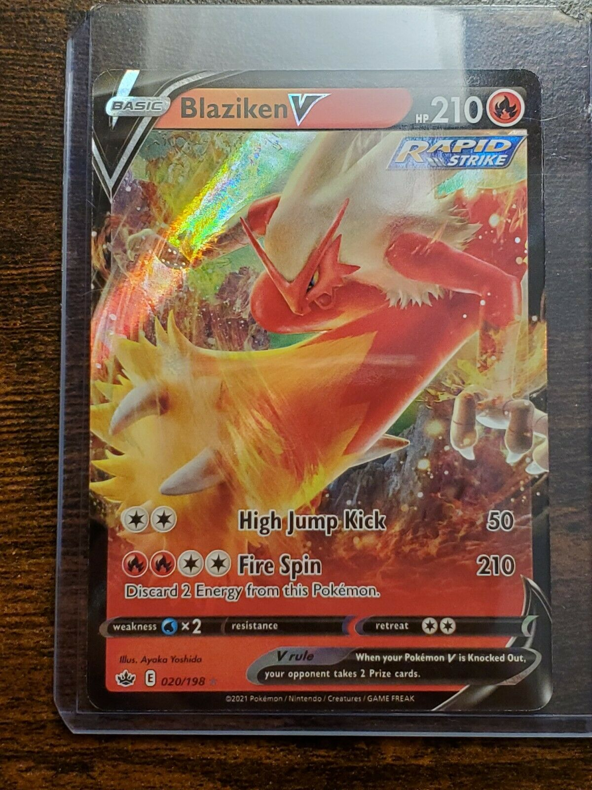 Blaziken V Rare 020/198 Chilling Reign Pokemon Card MINT