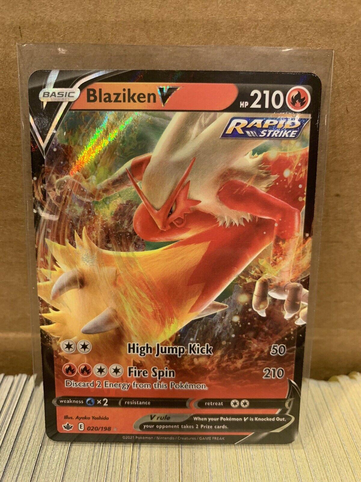 Blaziken V 020/198 Ultra Rare Chilling Reign Pokemon Card NM/M