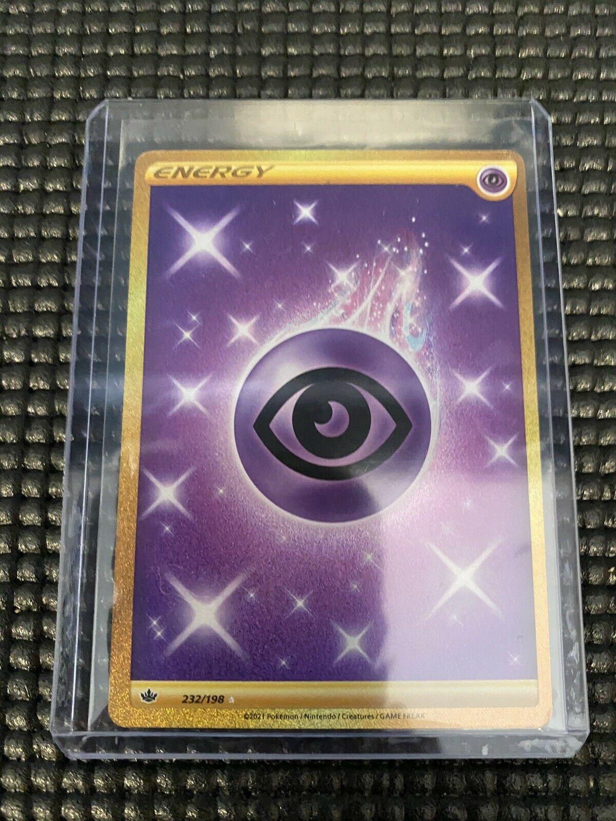Psychic Energy Gold Secret Rare 232/198 Pokémon Chilling Reign NM