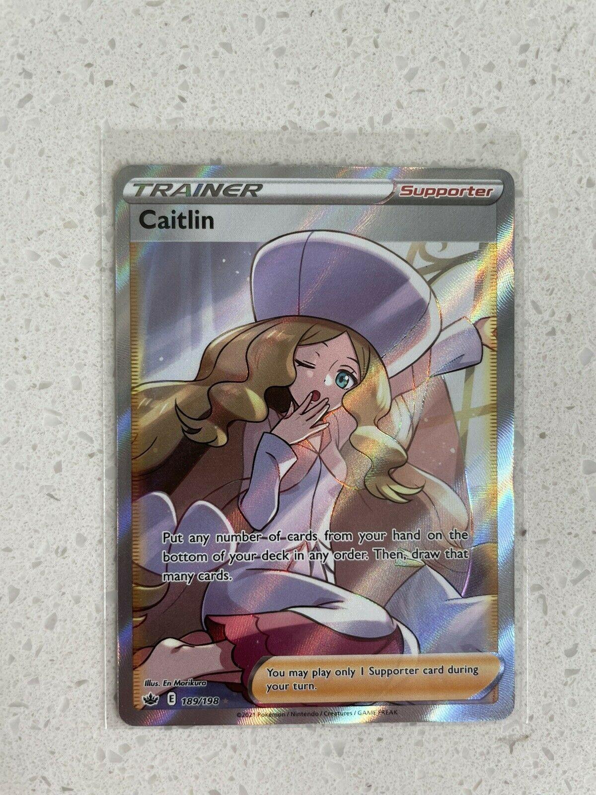 Caitlin 189/198 Ultra Rare Full Art Trainer Chilling Reign Pokemon Nm-Mint