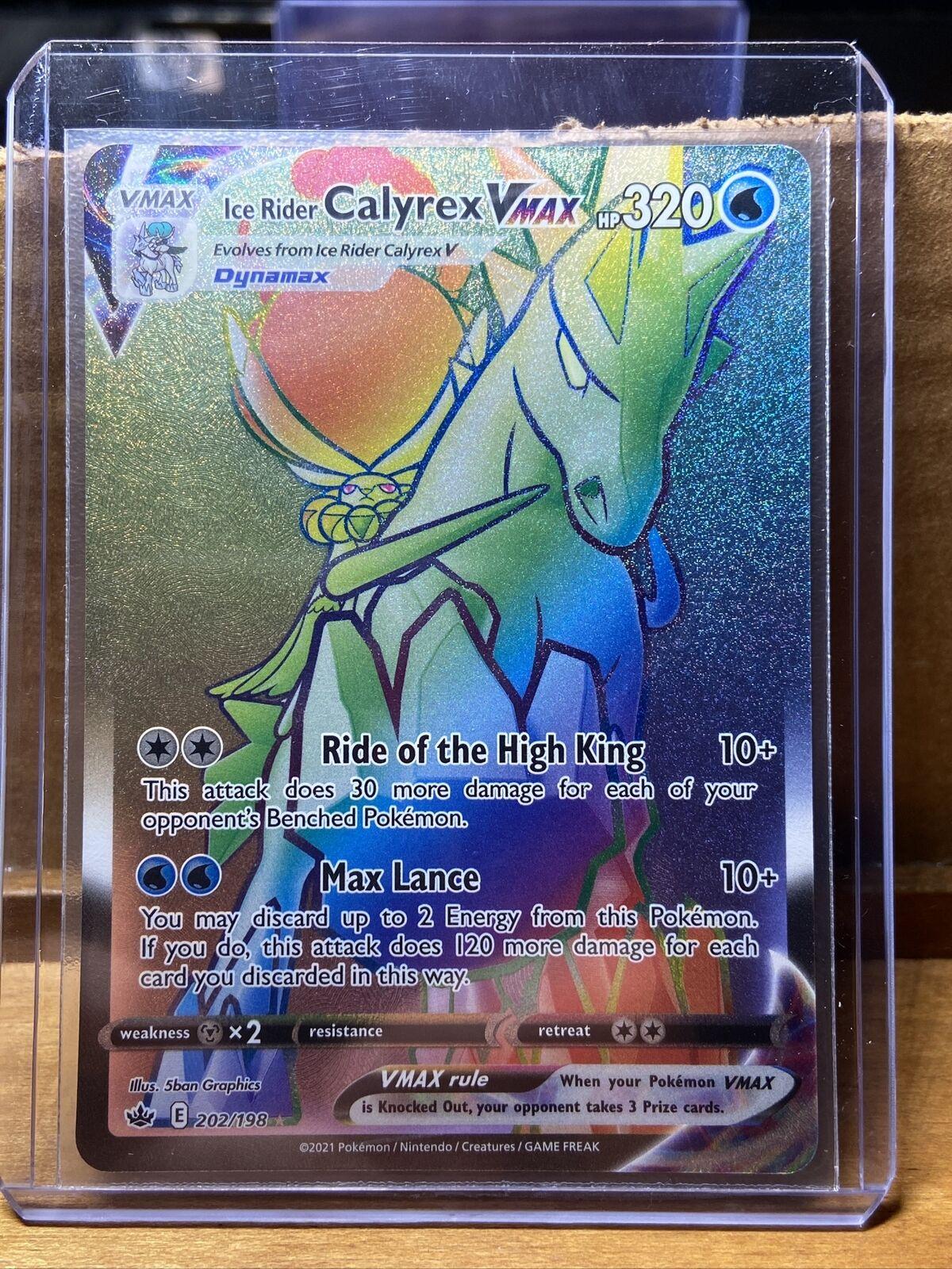 Pokemon: Chilling Reign - Ice Rider Calyrex VMAX 202/198 - Rainbow Rare NM