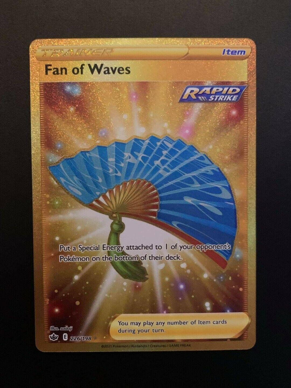 Fan Of Waves 226/198 Gold Secret Rare Pokemon Card Chilling Reign MINT