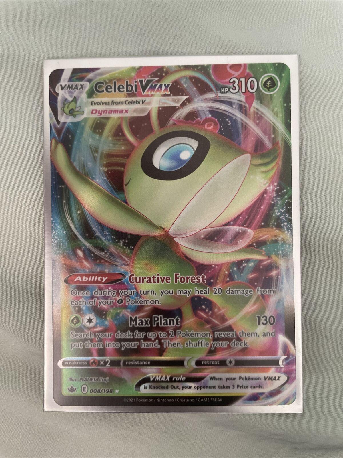 Celebi VMAX 008/198 Pokemon Chilling Reign NM/M
