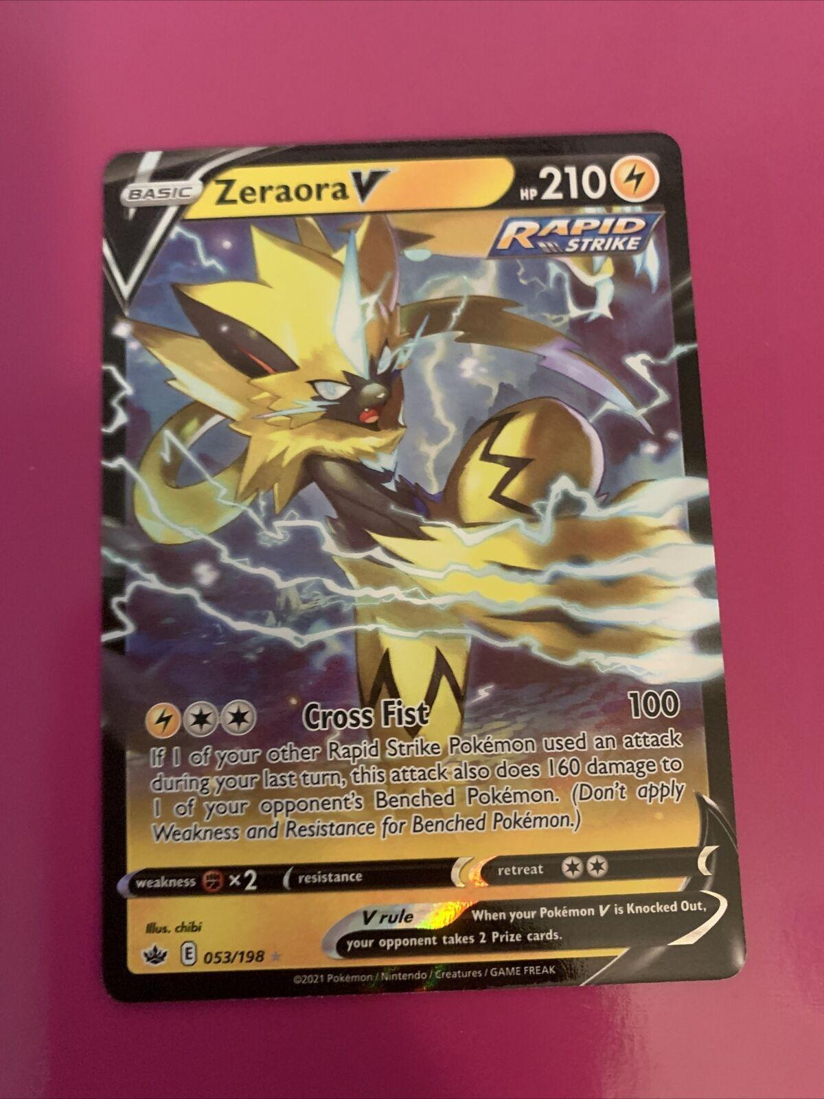 Zeraora V 053/198 Full Art NM/M Chilling Reign Pokemon Card