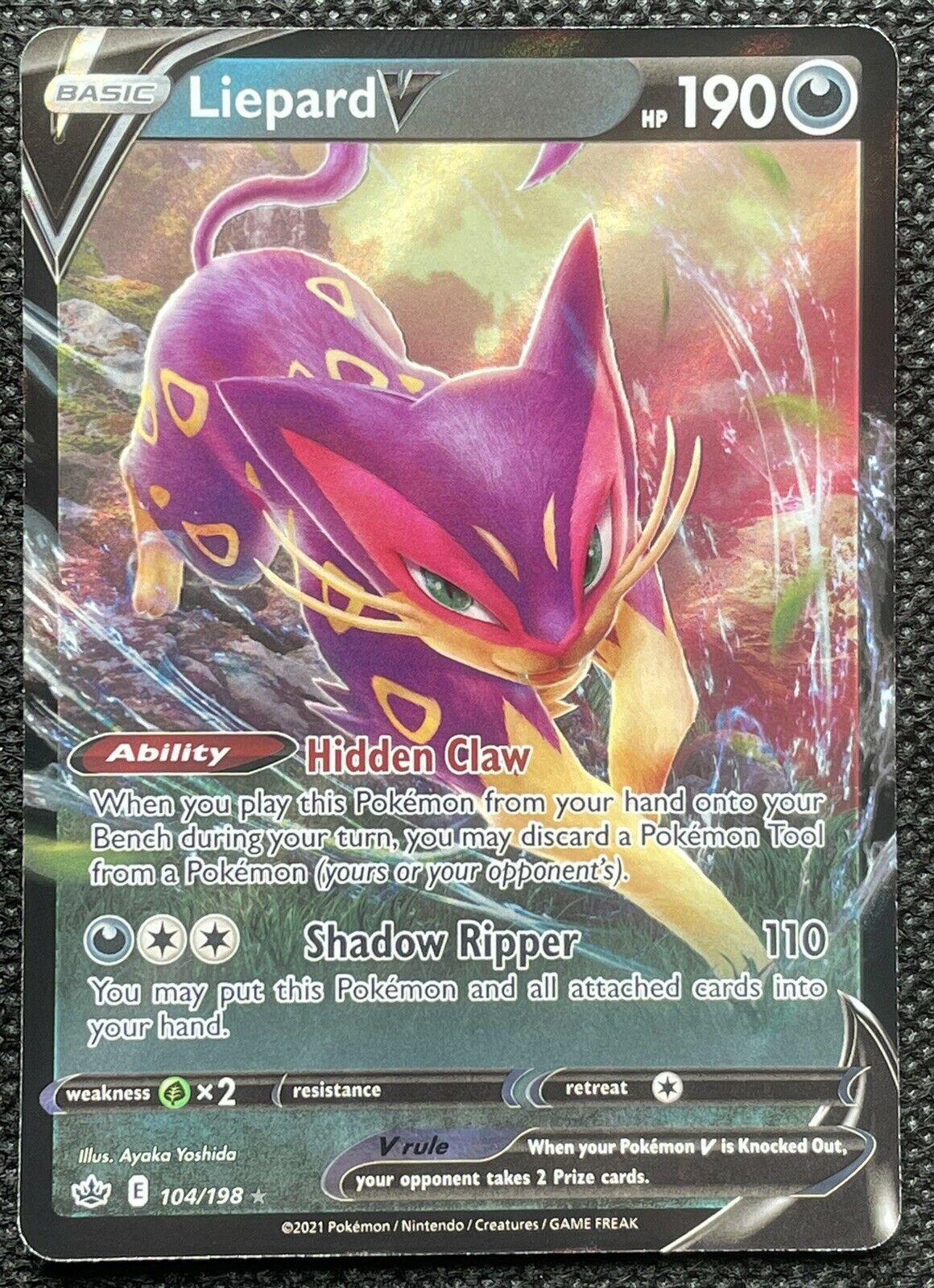 Pokemon - Liepard V - 104/198 - Ultra Rare - Chilling Reign - NM/M