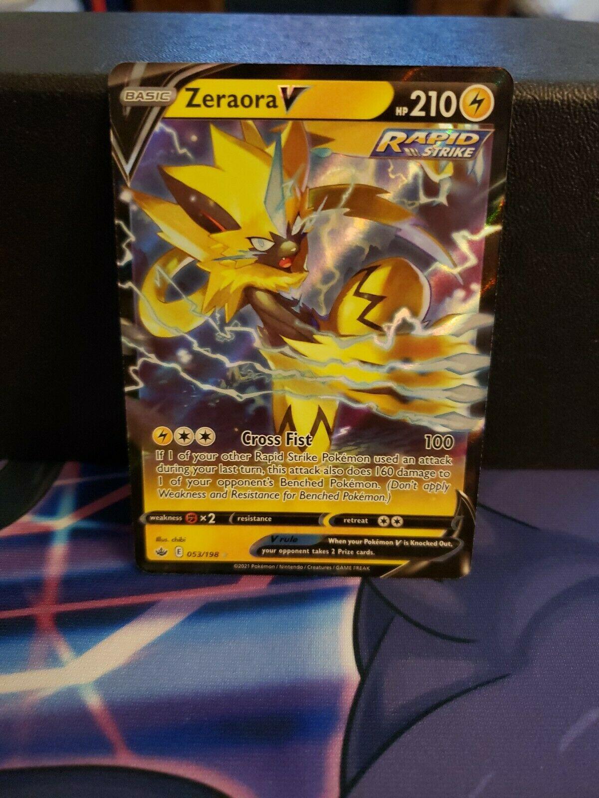 Zeraora V Pokemon Chilling Reign Card 053/198 Mint Condition