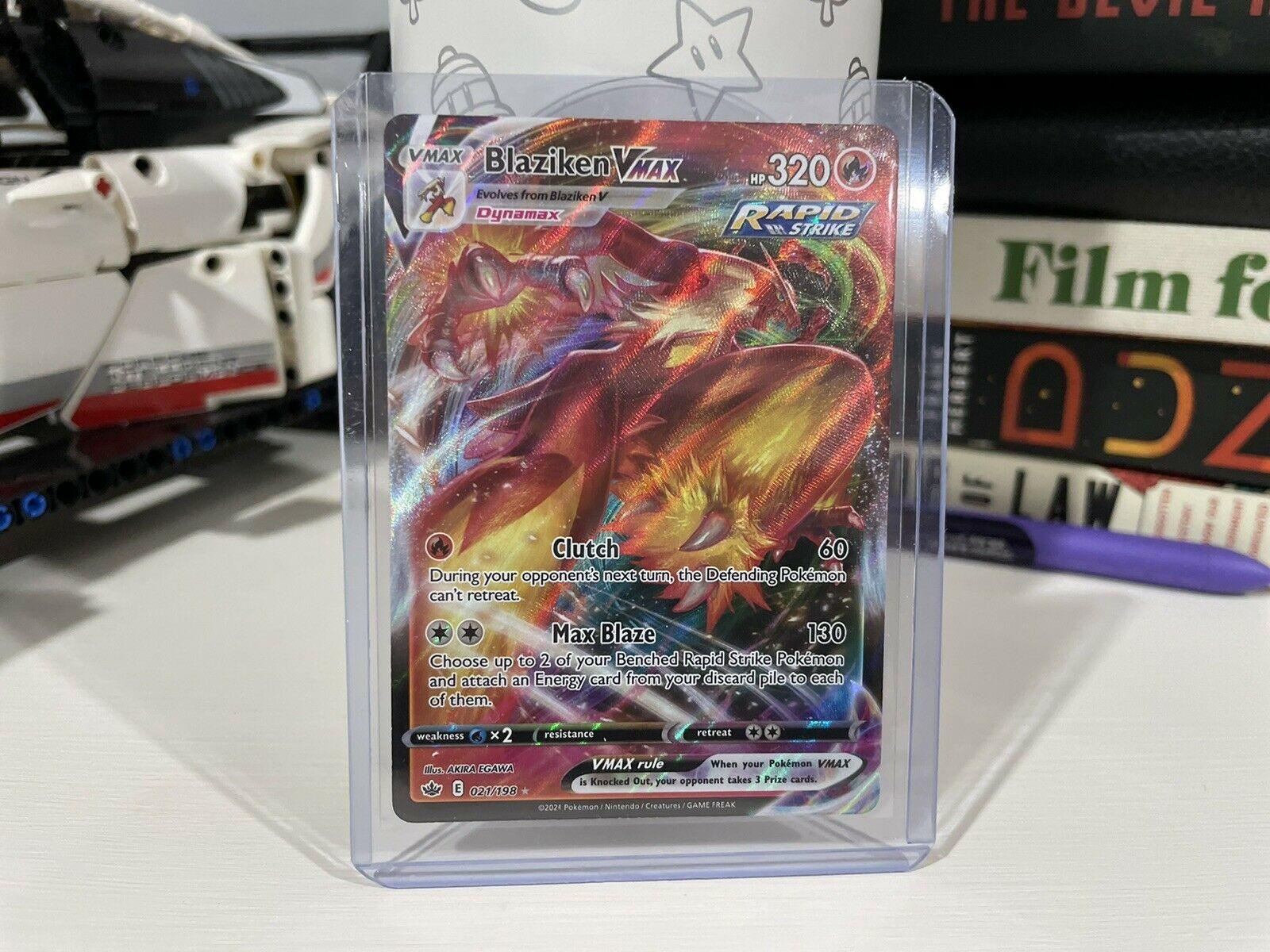 Blaziken VMAX 021/198 Pokémon TCG Chilling Reign Full Art Ultra Rare Near Mint