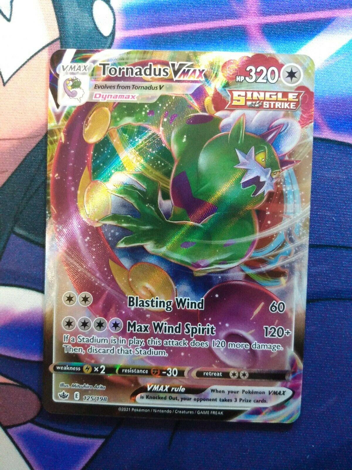 Tornadus VMAX 125/198 Ultra Rare Chilling Reign Pokemon TCG Near Mint