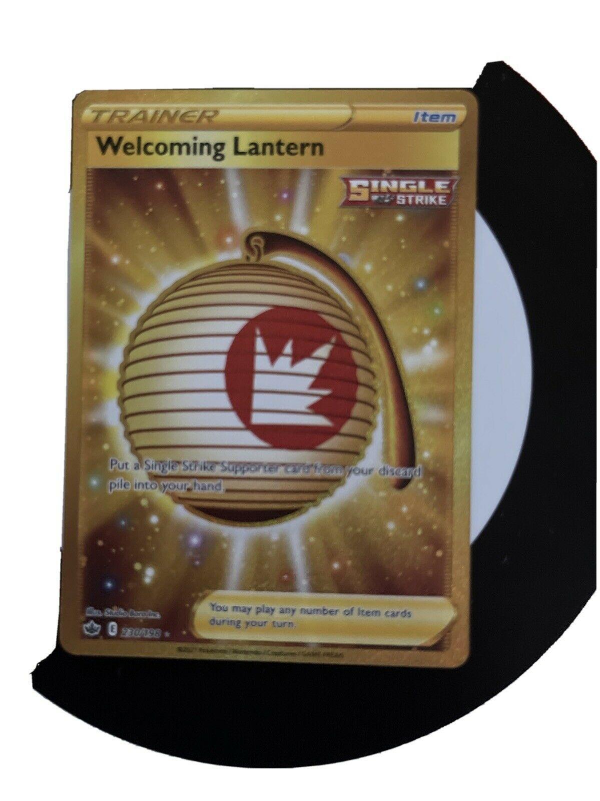Pokémon Chilling Reign Welcoming Lantern 230/198 Gold Secret Rare Fresh Pull