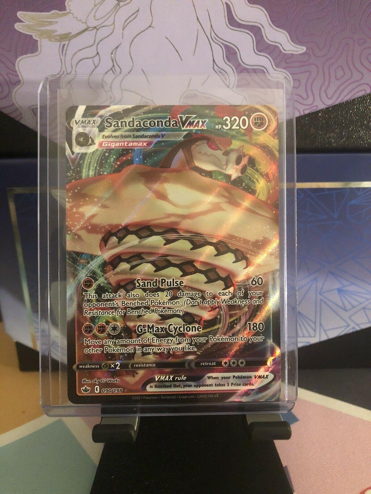 Pokemon Sandaconda VMAX 090/198 Full Art Chilling Reign NEW IN-HAND