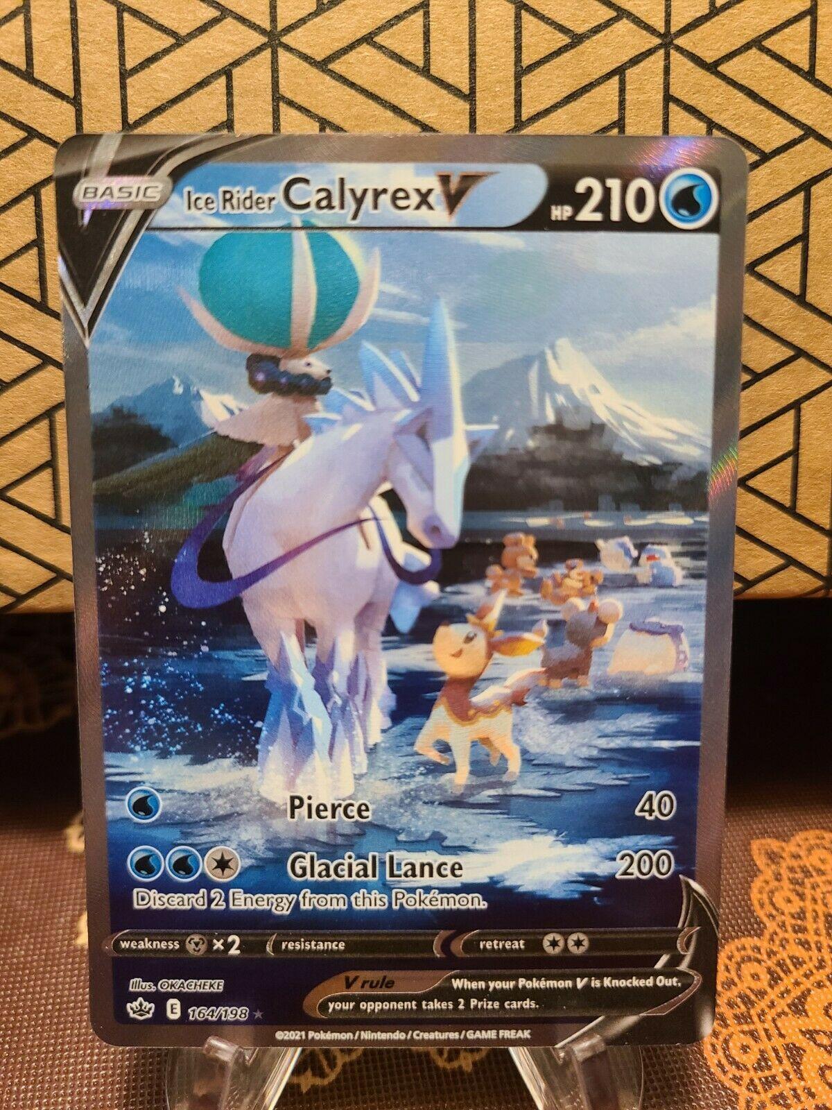 Chilling Reign Ice Rider Calyrex V Alt Art Pokemon 164/198 Print Error
