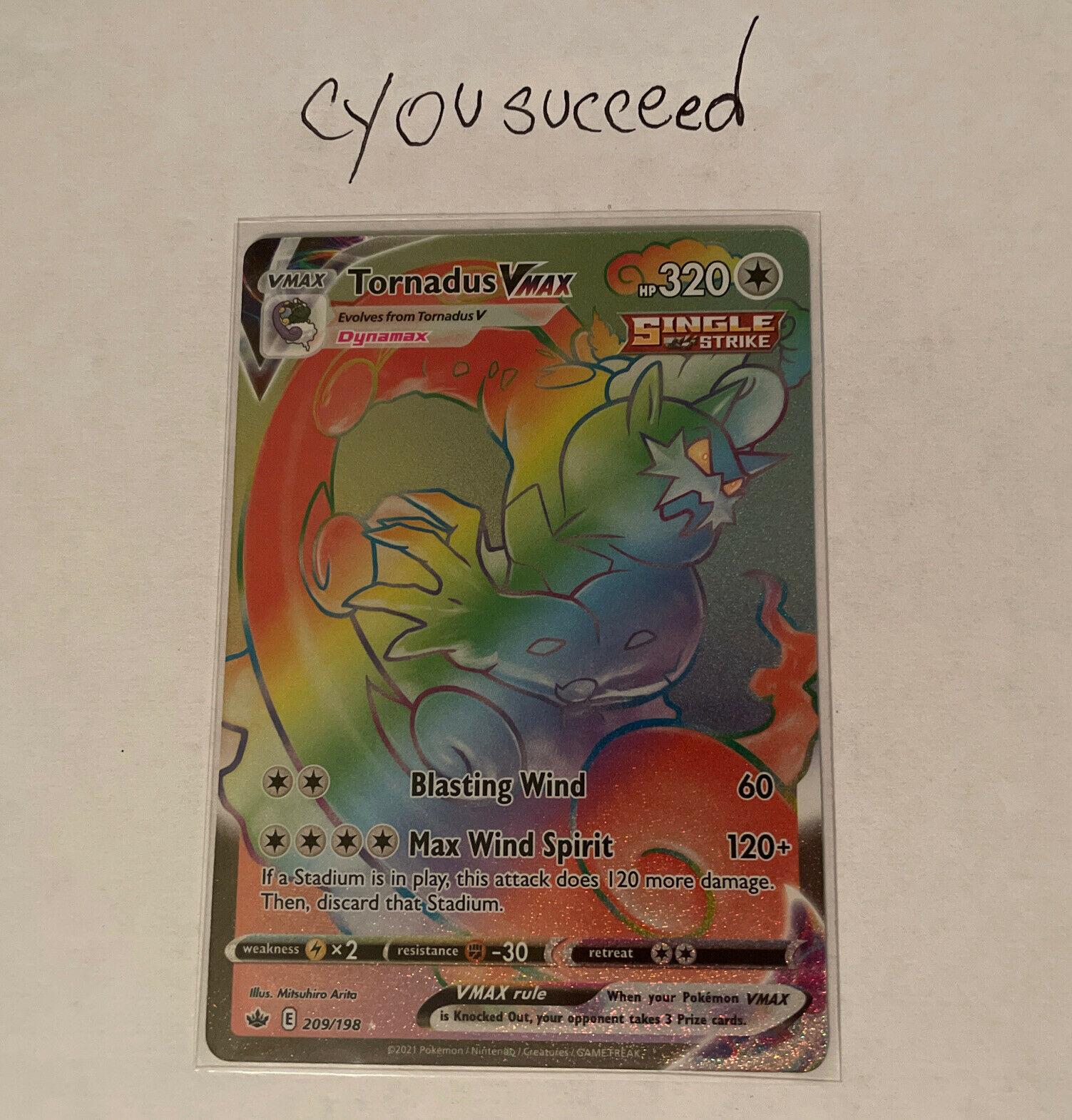Tornadus VMAX 209/198 Secret Rainbow Rare Pokemon Chilling Reign Nm-Mint