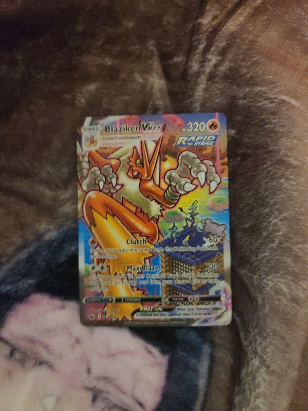 Pokemon TCG BLAZIKEN VMAX 201/198 Chilling Reign. SUPER RARE. PERFECT CONDITION
