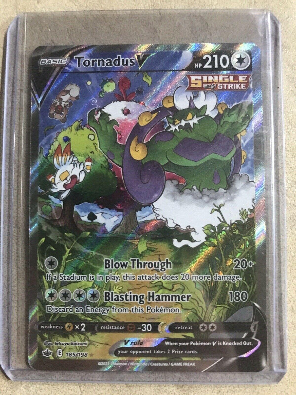 Pokémon TCG Chilling Reign Tornadus V Alt Art 185/198 NM